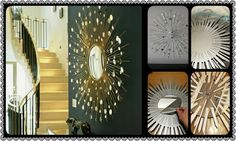 How to make star burst mirror in the interior