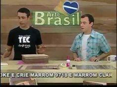 ARTE BRASIL - HÉLVIO MENDONÇA - CAIXA PORTA JOIAS COM SCRAP DECOR (11/10/2011)