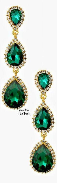 ❇Téa Tosh❇ Emerald Green Crystal Drop Earrings