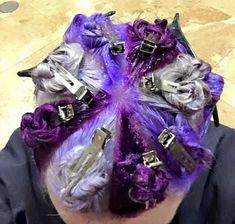 True Battle - Bella's purple hair - no silver though. All purple shades color hair techniques Coiffure Hair, Natural Hair Styles, Short Hair Styles, Hair Color Techniques, Coloured Hair, Crazy Hair, Rainbow Hair, Love Hair, Hair Today