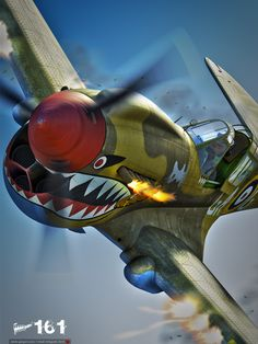 P40-Wicked! If you would like to own an awesome hand carved wood airplane model go to our store www.militarymodelsonline.com