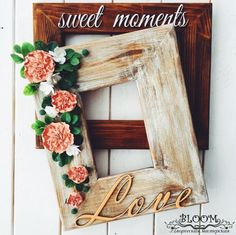 Picture frame photo photo frame frame flowers от MarinaShestorkina