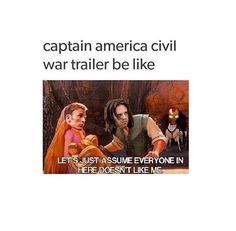 love this and all, but i kinda feel like it would be the other way around--bucky being scared and not knowing what's going on, and steve being the one trying to show him the world (and ticking everybody off in the mean time in order to be able to do so) Marvel Memes, Marvel Dc Comics, Marvel Funny, Bucky And Steve, America Civil War, Dc Movies, Bucky Barnes, Marvel Cinematic Universe, Marvel Avengers