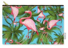 "Summer Carry-all #Pouch ""Palm Tree"" by Pixels.com artist Mark Ashkenazi"