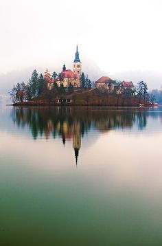 Lake Bled Island, Radovljica, Slovenia Reminds me of tangled Places Around The World, Oh The Places You'll Go, Places To Travel, Places To Visit, Around The Worlds, Travel Destinations, Wonderful Places, Beautiful Places, Amazing Places