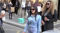 Kim Kardashian arrives back in LA after 24hr trip to Paris and is still wearing same denim shirt | Mail Online