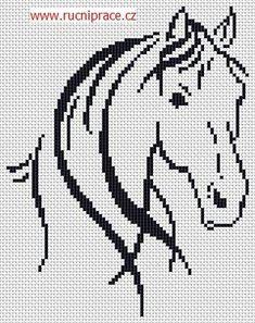 Horse, free cross stitch patterns and charts - www.cz Horse, free cross stitch patterns and charts - www. Cross Stitch Pattern Maker, Cross Stitch Charts, Cross Stitch Designs, Cross Stitch Patterns, Cross Stitch Horse, Cross Stitch Animals, Cross Stitching, Cross Stitch Embroidery, Embroidery Patterns
