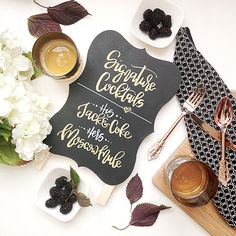Hey, I found this really awesome Etsy listing at https://www.etsy.com/listing/276608162/chalkboard-signature-cocktail-sign