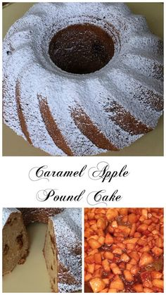 Caramel  Apple Pound Cake -  Rich, sweet  pound cake  with   specks of  caramel  coated  apples.  Absolutely delicious !!
