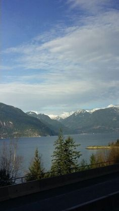 Heading into Whistler by coach,  beautiful.