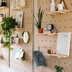 What a cool diy alternative to a bookshelf wall!