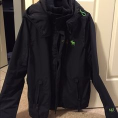 Abercrombie and Fitch men's jacket Worn once.  Super nice bought for $189 in store.  Love the neon green accents Abercrombie & Fitch Jackets & Coats