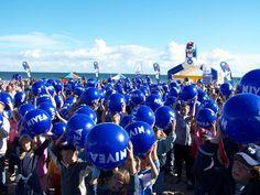 "Das Highlight bei jedem Strandfest: ""Joyrobic"" – 1000 NIVEA Bälle verwandeln…"