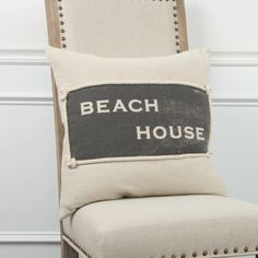 Rizzy Home Beach House Square Throw Pillow in Natural Beach House Decor, Home Decor, Beach Houses, Nautical Looks, Throw Pillows, Bed, Detail, House Furniture, Beautiful Beach