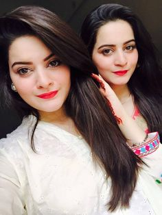 Minal And Aiman Khan eid 2015 2