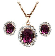 HFJandYIEandH Jewelry-Necklaces / Earrings(Crystal)Wedding / Party / Casual Wedding Gifts