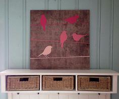 Birds on canvas.