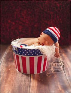 Free Patriotic Crochet Pattern for Baby ~ at TheFrugalGirls.com