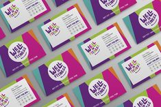 Portfolio project: Well In Fitness business/loyalty card | Beehive Green Design Studio