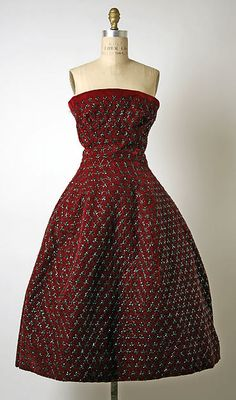 * SOIRÉE DE NEW YORK silk fall/winter 1955–56 Christian Dior