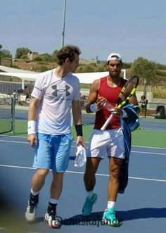 Rafa Nadal and Andy Murray