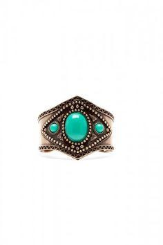 Would make a pretty ring.... Jaded Stone Cuff $18.00