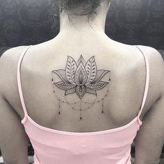 Flor de lotus feita hj em Patricia! Valeu a confiança! #arte #art #ink #inked #tattoo #tatuagem ...