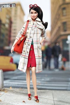 Coach Barbie Doll with Coach Handbag!