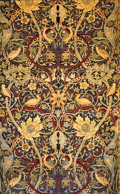 Bullerswood Carpet (detail), 1889 William Morris this would be a nice scrapbook paper William Morris Wallpaper, William Morris Art, Morris Wallpapers, Art Nouveau, Art Deco, Textures Patterns, Fabric Patterns, Print Patterns, Fabric Design