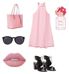 """Date"" by ana-sofia-saucedo on Polyvore featuring moda, MANGO, Michael Kors, Yves Saint Laurent, Steve Madden, Lime Crime y Marc Jacobs"