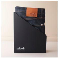 Jean packaging by Baldwin Denim #Packaging #design