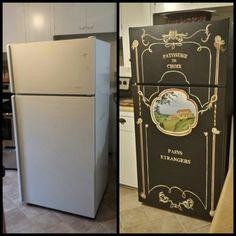 Refininshed fridge- ellieMAC Designs