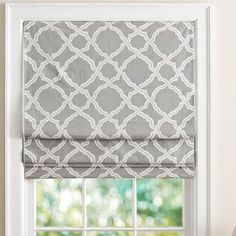 9 Roman Shades to Achieve the Look of a Tailored Window Treatment - Pottery Barn Kendra Trellis Cordless Roman Shadebestproductscom La mejor imagen sobre healthy recip - Living Room Blinds, Bedroom Blinds, My Living Room, Curtains Living, Fabric Blinds, Curtains With Blinds, Gypsy Curtains, Valance, Kitchen Window Dressing
