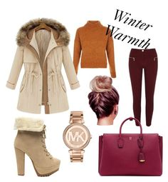 """Winter Warmth"" by banzi-k ❤ liked on Polyvore featuring River Island, New Look, MCM, Michael Kors and SayNoToAnimalCruelty"