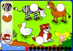 Puzzle de animales Apps, Puzzles, Snoopy, Tic Tac, Math, Comics, Fictional Characters, Educational Games, Special Education