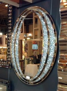 Diamond Crush Sparkle Oval Wall Mirror item in stock - Home Ideas - Mirrored Bedroom Furniture, Rustic Furniture, Diamond Furniture, Luxury Furniture, Glam Bedroom, Oval Mirror, Room Themes, Silver Diamonds, Home Decor Accessories