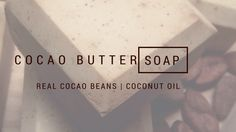 Cocao Butter Soap! I am not only spilling some of my beauty secrets, I am sharing them!! This is my favorite daily face bar and now I am sharing it. It is made with coconut oil, coco butter and coc…