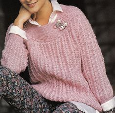Vintage Knitting Pattern Instructions to Make a Ladies Jumper Sweater with Double Knit ...DIGITAL DOWNLOAD. NOT A FINISHED JUMPER  One Size (34-36) Bust Original Wool: Pingouin Corrida 4 (UK Double Knit) (USA 8 Ply) Needles Required: (UK 3.75mm & 5mm + Circular 4mm (USA 4 & 7 + Size 8 Circular) The above is Guidance Only.....We advise that you always do a Tension square  THIS IS A UK PATTERN...A NEEDLE CONVERSION CHART IS INCLUDED IN THE FILES TO HELP INTERNATIONAL KNITTERS Thank you for…