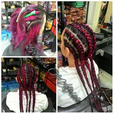 Change up your hair style with just 6 cornrow braids.