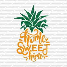 home sweet home pineapple summer beach pillow svg