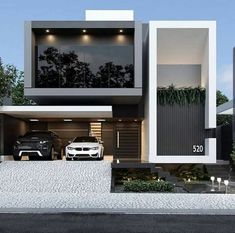 Front Elevation Designs, House Elevation, House Front Design, Small House Design, Modern House Design, Modern Minimalist House, Modern Exterior, Exterior Design, Jeddah