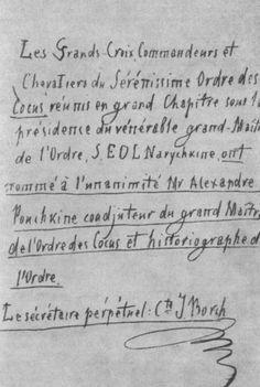 Анонимный пасквиль, полученный А. С. Пушкиным 4 ноября 1836 года