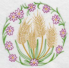 Wheat and Flowers (Vintage)