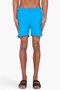 Orlebar Brown Reef Bulldog Swim Trunks    $240.00 Youre Cute, Red Accents, Welt Pocket, Swim Trunks, Zipper, Swimwear, Belts, Stitching, Mesh