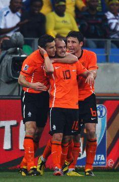 2010 World Cup-Mark Van Bommel, Wesley Sneijder, & Robin Van Persie. Go Holland!