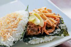 Japanese food sukiyaki rice burger