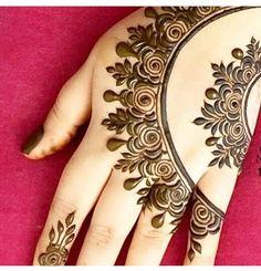 Henna Art Designs, Stylish Mehndi Designs, Mehndi Designs For Fingers, Bridal Henna Designs, Beautiful Henna Designs, Beautiful Mehndi, Henna Tatoos, Mehndi Tattoo, Mehndi Art