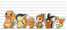 Different Pokemon Height Fire Pokemon, Pokemon Fan Art, My Pokemon, Pikachu, First 150 Pokemon, Pokemon Photo, Gotta Catch Them All, Eevee Evolutions, Fire Starters
