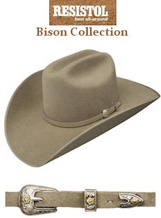 Resistol Hats 4X Bison Collection Spotter B RBSPTRB7542-20 Stone