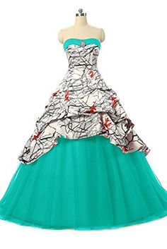 Camo Bridesmaid Dresses, Camo Wedding Dresses, Pretty Wedding Dresses, Cute Dresses, Weeding Dresses, Wedding Outfits, Homecoming Dresses, Pink Camo Wedding, Camouflage Wedding